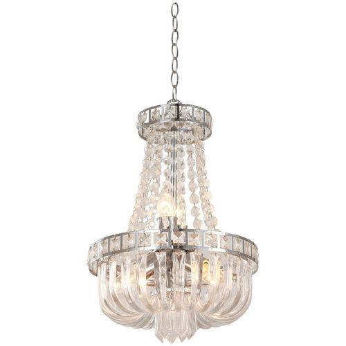 Lámpara Colgante 5 Luces E27 Acabado Cromo