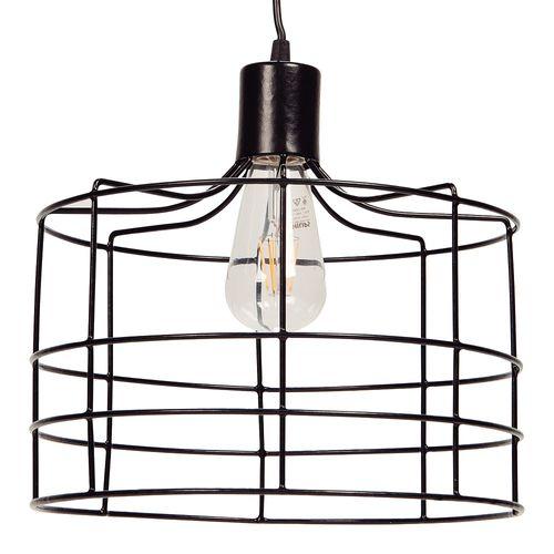 Lámpara Colgante Cage E27 30 Cm Negro