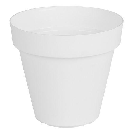 Maceta 20 Cm. Plástica Capri Blanco