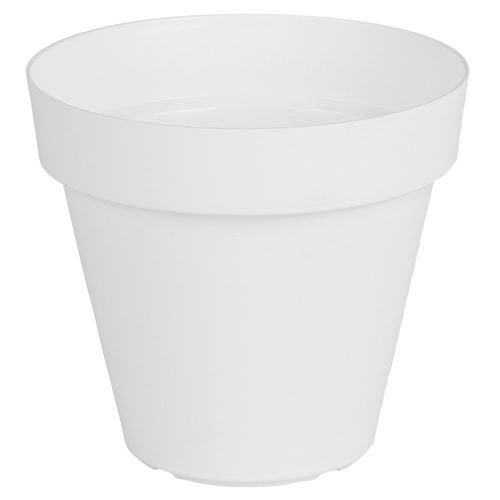 Maceta Plástica Capri Blanco 25 Cm