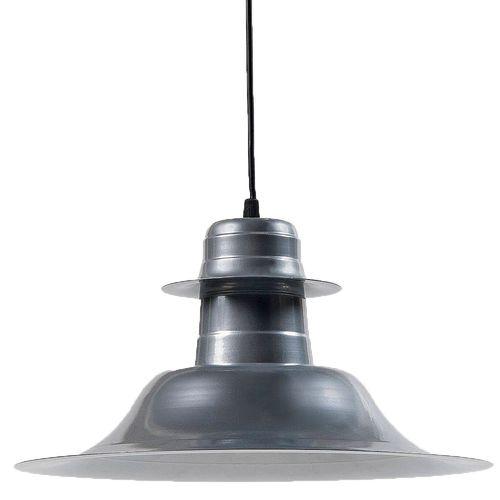 Lámpara Colgante Sombrero Chapa E27 35Cm Gris