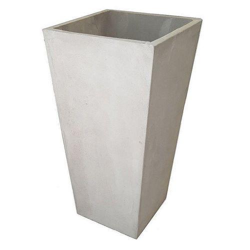 Maceta 25x25x50 Cm. Cemento Piramidal