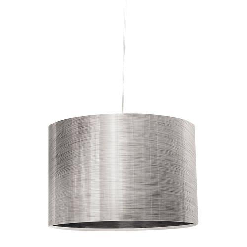 Lámpara Colgante 1 Luz E27 60W 30 Cm Vidrio Plata