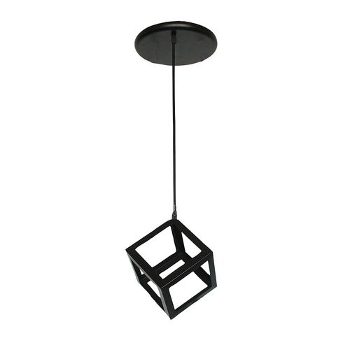 Lámpara de Colgar Cubo 1L E27 Negro 23Cm