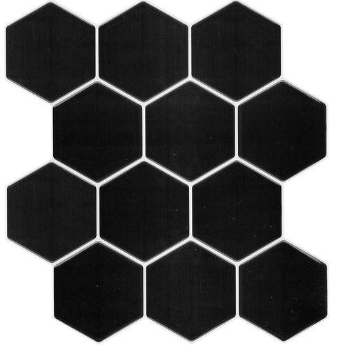 Wallsticker Hexagono Negro