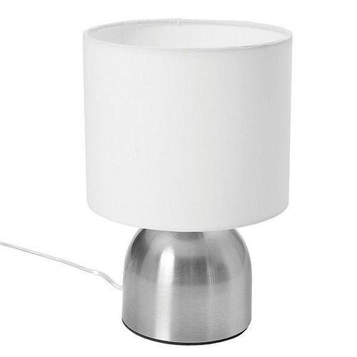 Lámpara de Mesa 1 Luz E27 40W Metal Tela Blanco 18 Cm