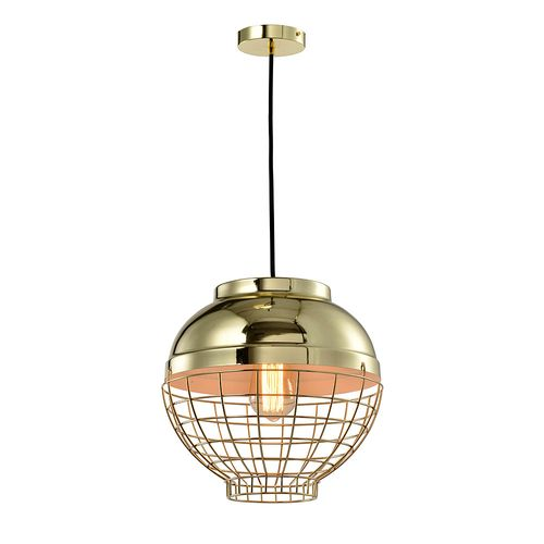 Lámpara de Colgar 1L E27 Retro Gold 30Cm