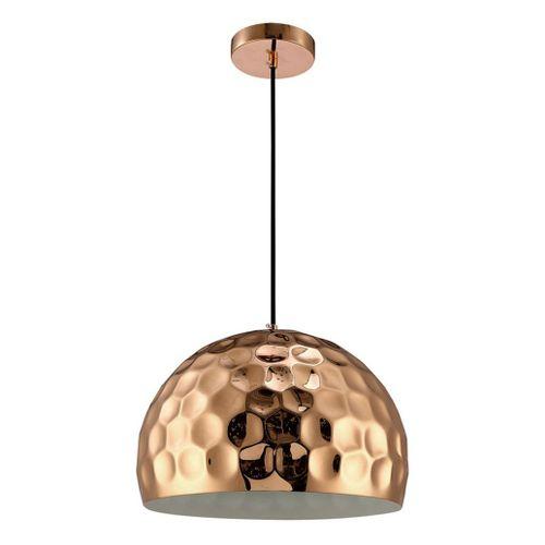 Lámpara Colgante Disco 1 Luz E27 Cobre 35 Cm